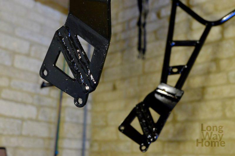 Zmodyfikowany stelaż podsakwy - Modified pannier rack