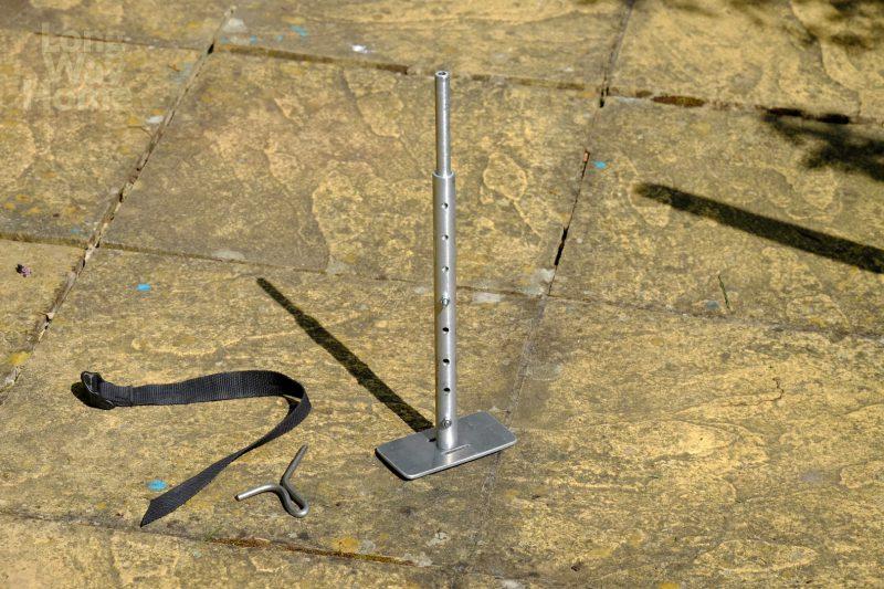 Wewnętrzny pręt ustawiony nażądaną wysokość - Inside rod set in desired position