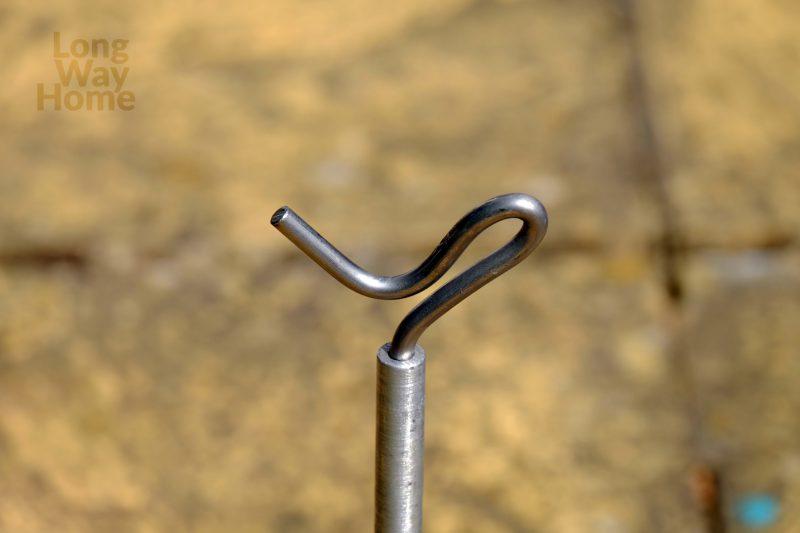 Hak wykonany znierdzewki - Stainless steel hook